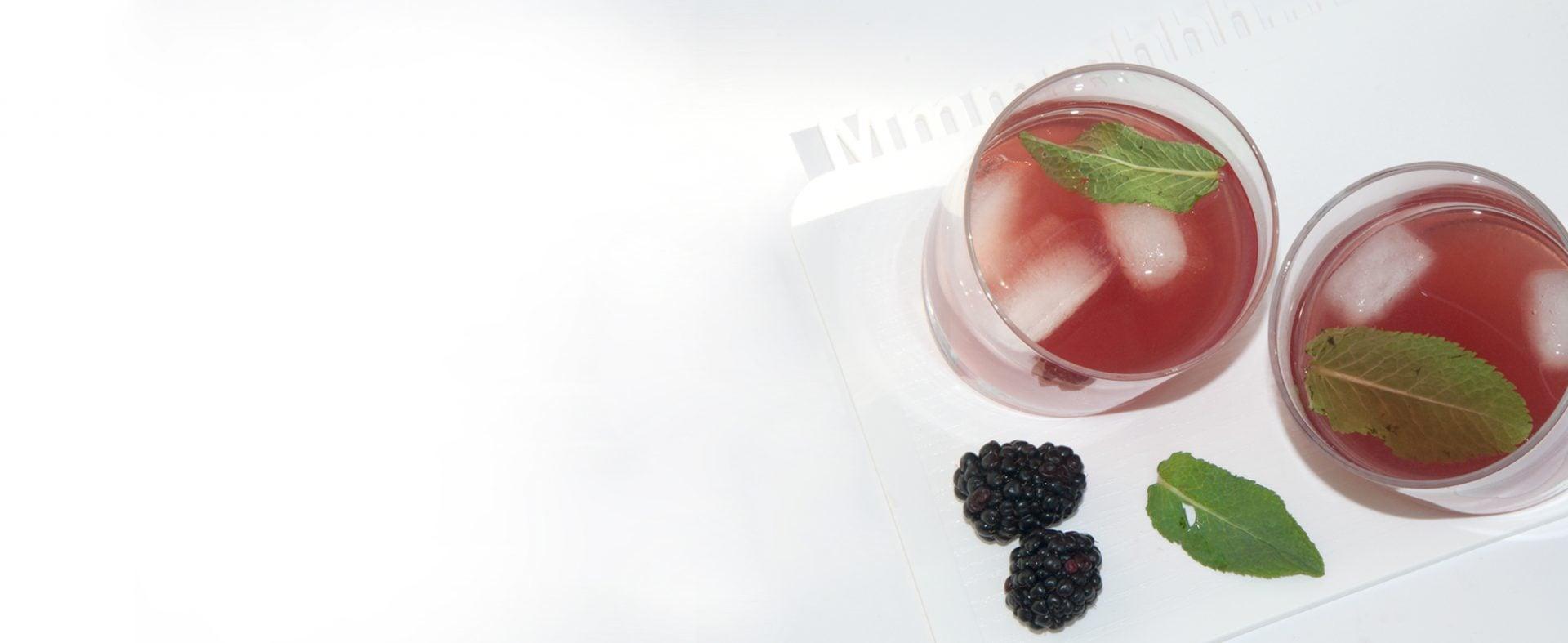 #3. Fresh & Fruity: Blackberry-Mint Iced Tea - Bittersweet Beverages